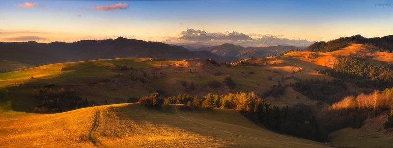 pieniny, november, mountains, panorama, wysoki wierch photo preview