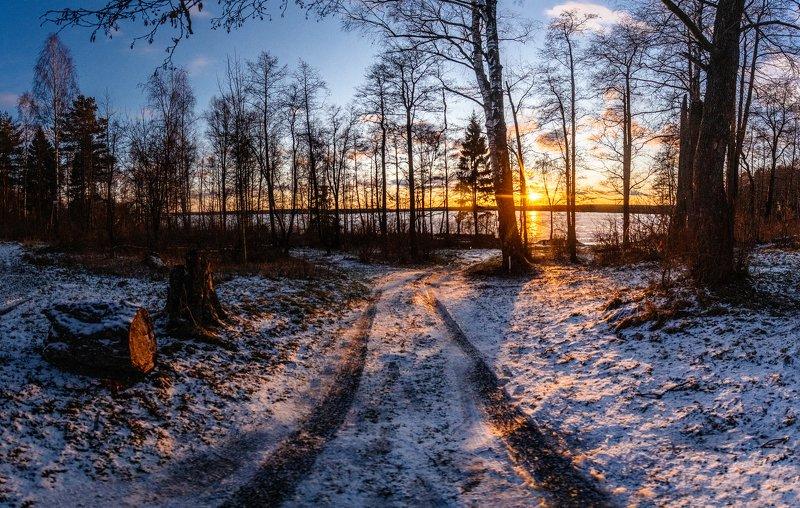 рубское озеро, декабрь, россия, ивановоская область Рубское озеро в декабреphoto preview