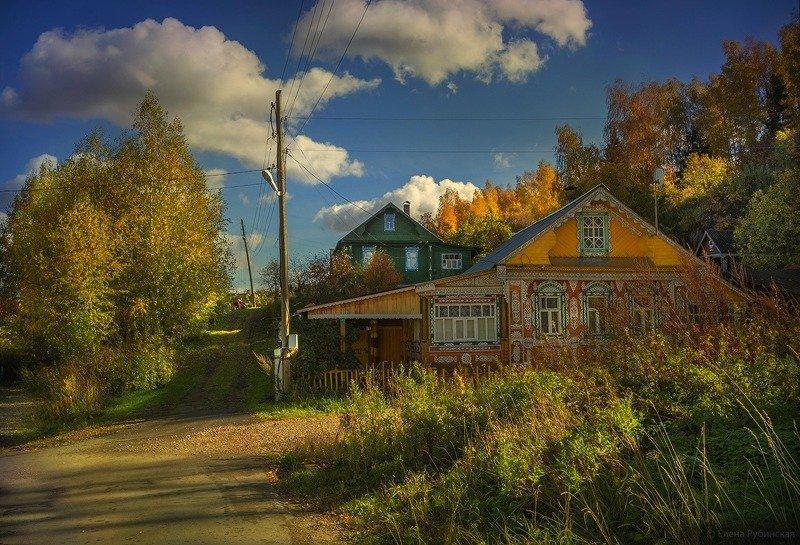 город,плёс,осень,улица,дома,деревянные дома Осень в Плёсеphoto preview