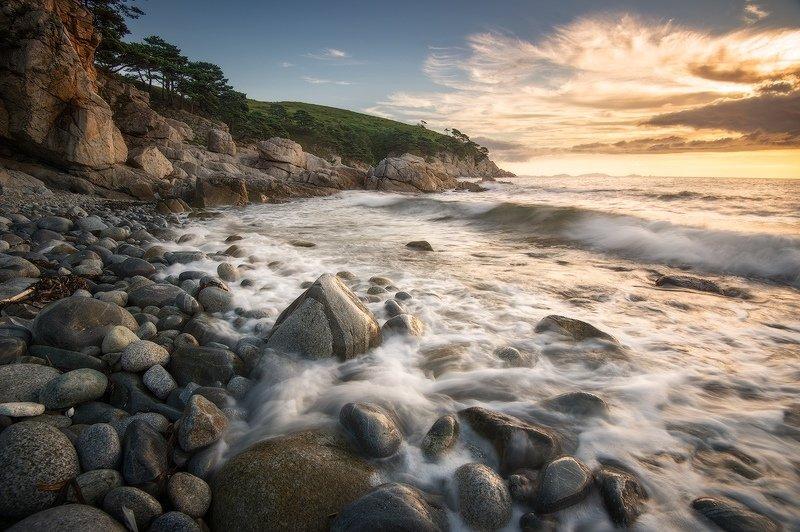 приморский, край, море, солнце, рассвет, владивосток, заповедник, скалы ***photo preview