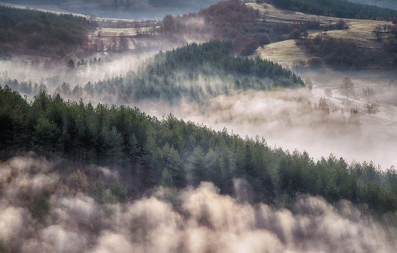 bulgaria,landscape,mist, morning,colors,nature , fog,sunrise, October mistphoto preview