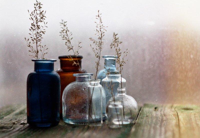 трава, натюрморт, боке, прозрачный, брызги, вода, закат, солнце, бутылки, банки, стекло, красивый, лето, still life Бутылочныйphoto preview