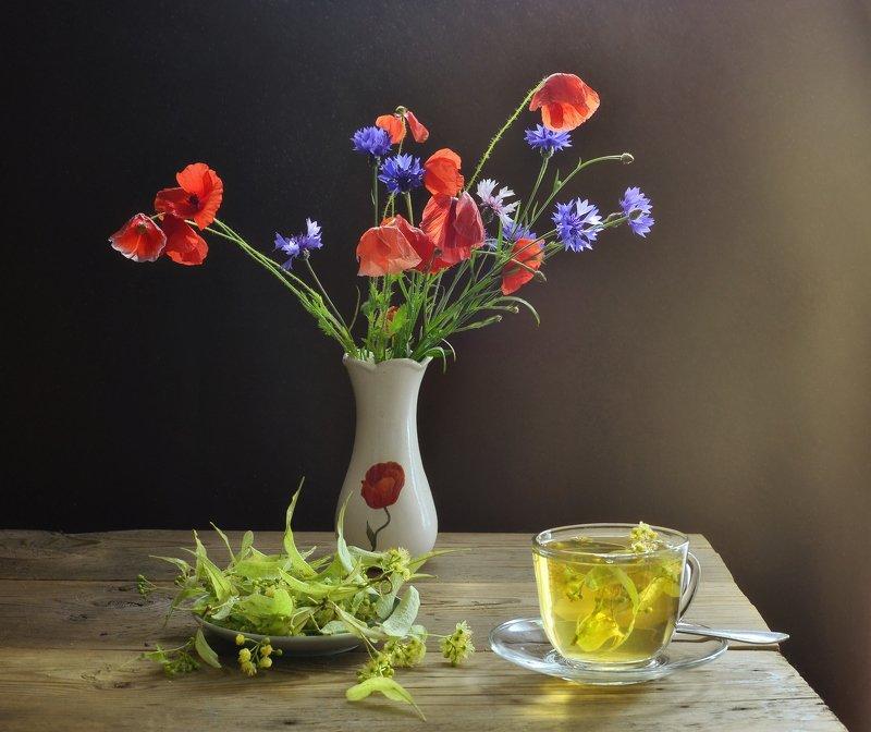 натюрморт,композиция,свет,лето,букет,чай,липа Летний  освежающий чайphoto preview