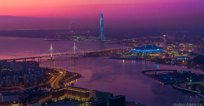 россия, петербург, вечер, закат, осень Новый Петербургphoto preview