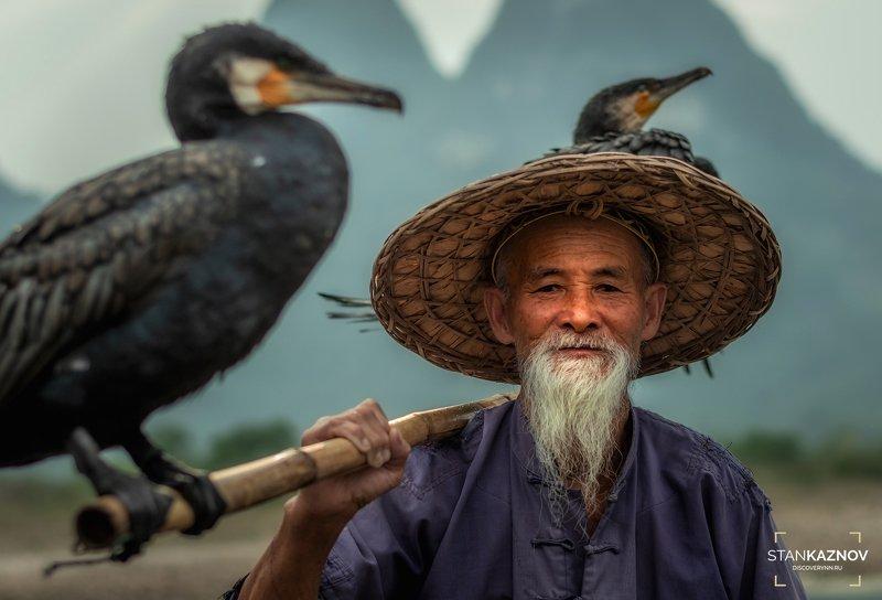 рыбак, китай, china Мастер Чен и его птицыphoto preview