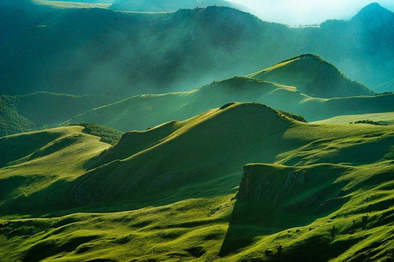 эльбрус, бермамыт, гора, рассвет, небо, плато, облака, холмы, закат, свет ЗЕЛЁНОЕ МОРЕphoto preview
