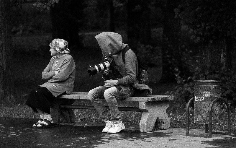 город, парк, люди нетphoto preview