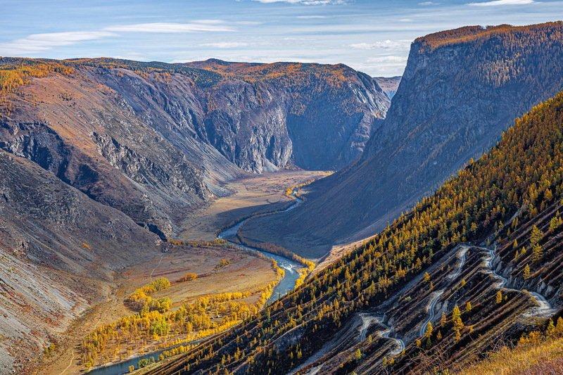алтай. горы.осень. Перевал Кату-Ярык.photo preview