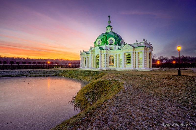 Кусково, Москва, закат, Kuskovo, Moscow, sunset Грот в Кусковоphoto preview