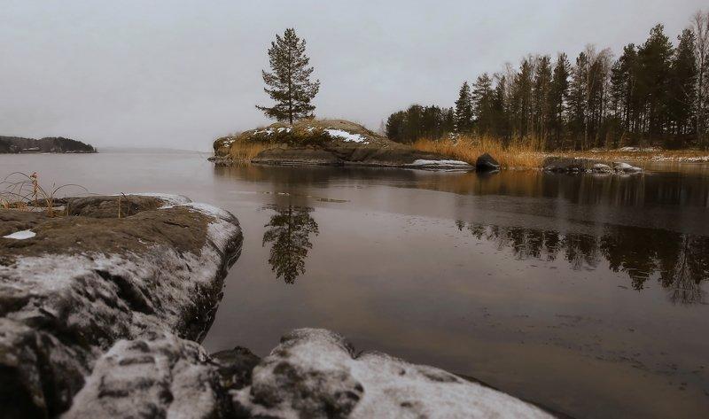 Пейзаж Карелия осень природа На границе тепла и холодаphoto preview
