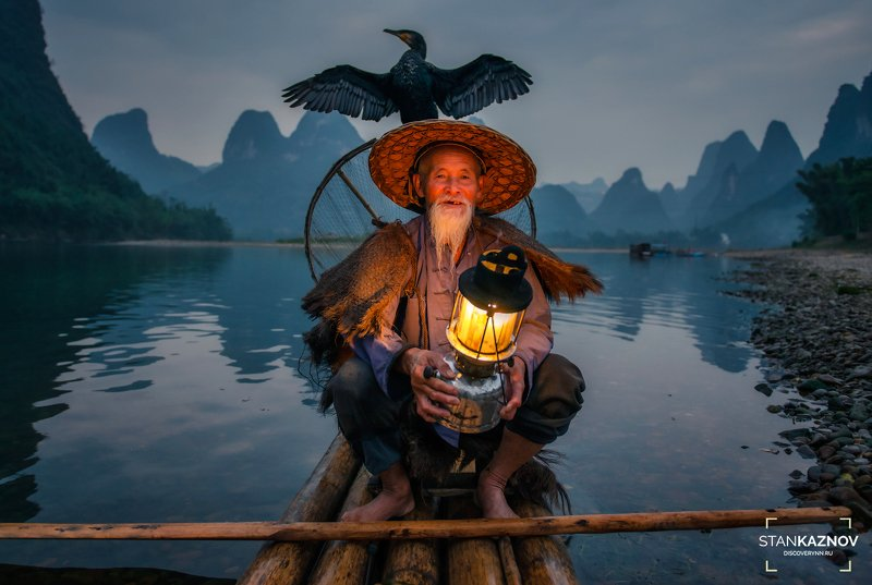 рыбак, китай, china Однвжды на берегах реки Лиphoto preview