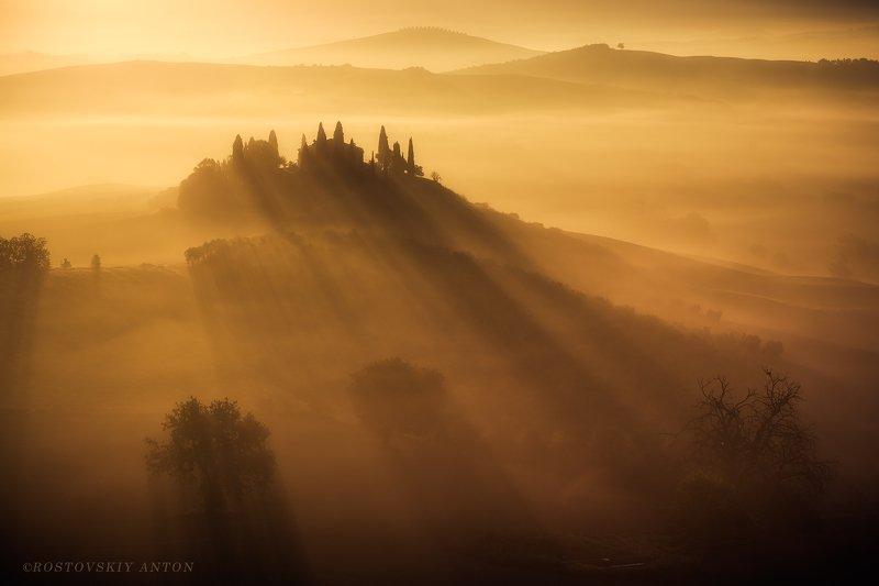 tuscany, Italy, sunrise, morning, тоскана, фототур, Подере, Белведере, Podere, Belvedere, Tuscany (фототур) | Ростовский Антонphoto preview