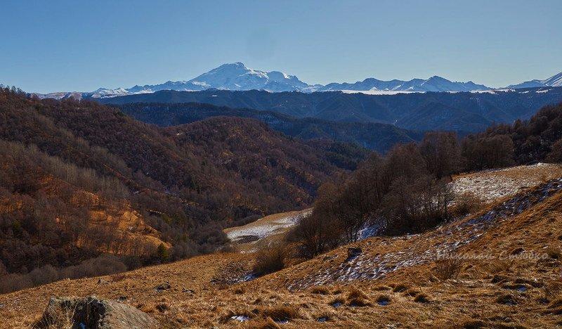кавказ, горы, зима, эльбрус Скудная палитра зимыphoto preview