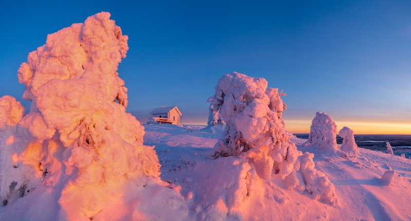 финляндия, лапландия Застывший мирphoto preview