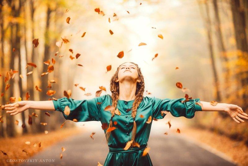фототур, Тоскана, девушка, осень, счастье, листья, Tuscany, Italy,  Осеннее счастьеphoto preview
