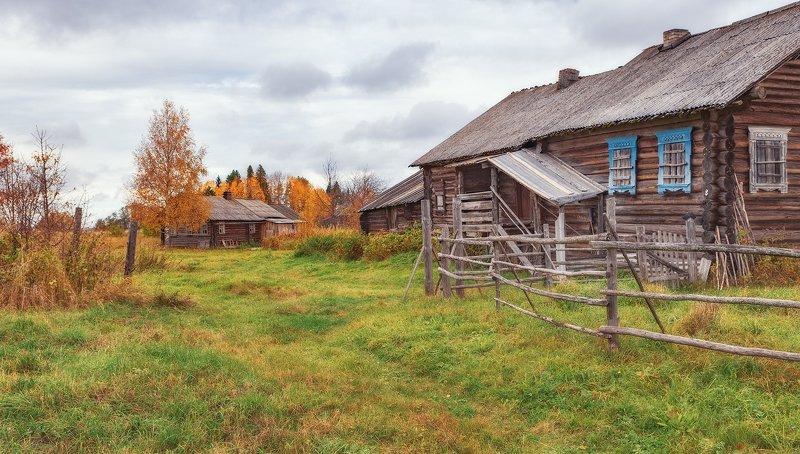 кенозерье, осень, деревня Кенозерьеphoto preview