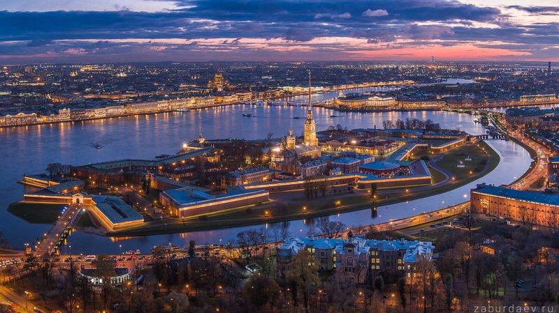 россия, петербург, санкт-петербург, город, архитектура, вечер, закат, осень, дрон, река, нева, крепость Петропавловская крепостьphoto preview