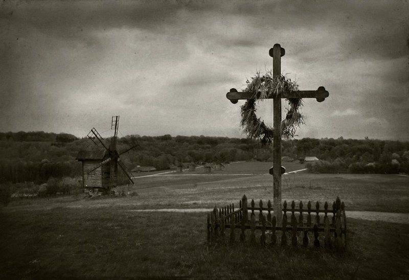 пирогово, крест, мельница photo preview