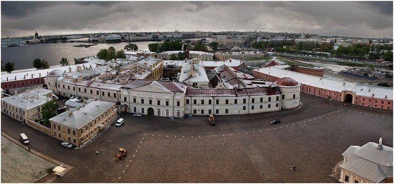 собор площадь панорама равелин куртина бастион Соборная площадь с колокольни Петропавловского собораphoto preview