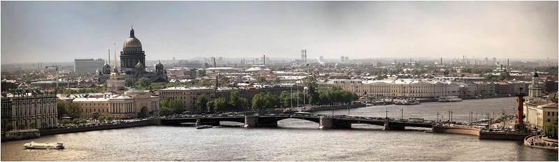 мост зимний дворец адмиралтейство и саакий стрелка во Дворцовый мостphoto preview