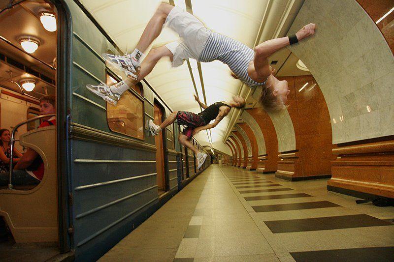 метро паркур * * *photo preview