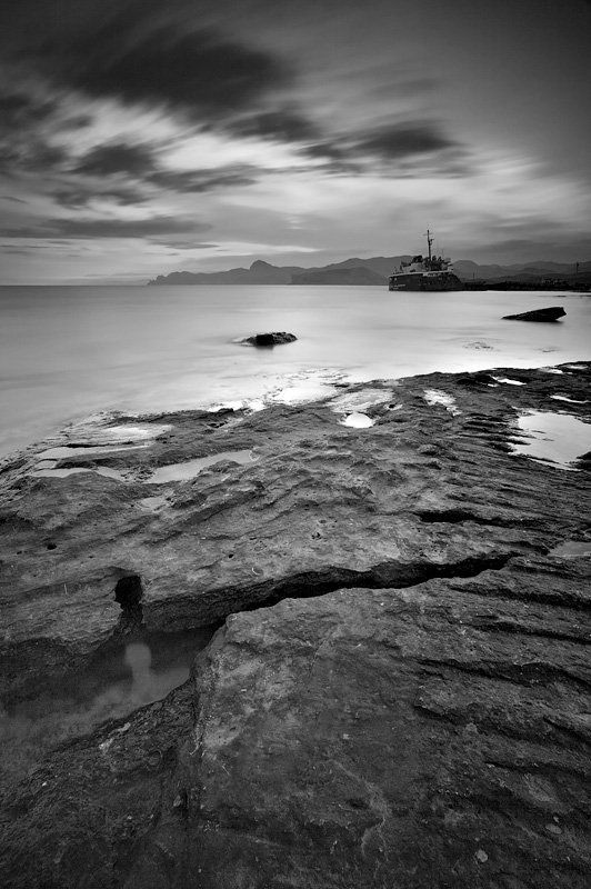 крым, весна, капсель, море, вечер Trapped in Timephoto preview