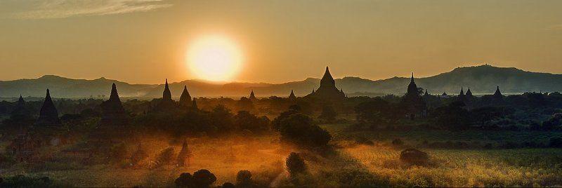 баган, бирма Bagan cityphoto preview