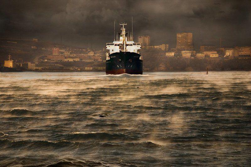 японское, , , море, , , корабль, шторм Vesselphoto preview