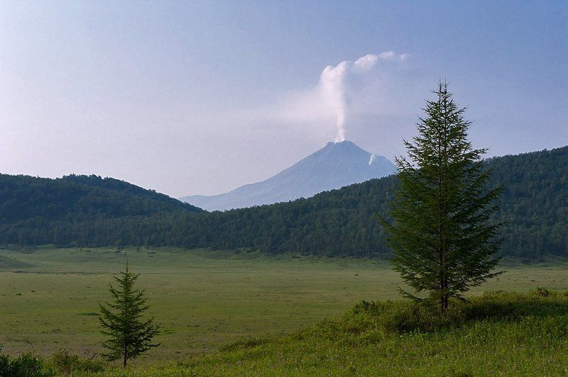 камчатка, вулкан, кизмен, урочище, кипелое Вулкан Кизименphoto preview