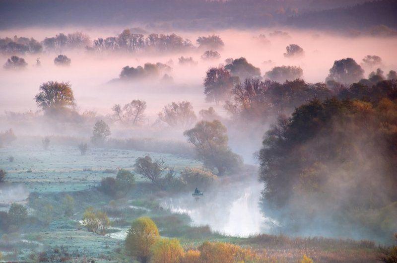 рассвет, осень, речка, туман. клевое местоphoto preview