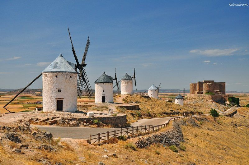 испания, кастилия, ла, манча, консуэгра, мельница, замок Ruta de Don Quixotephoto preview