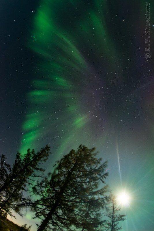 aurora borealis, северное сияние, север, ночной пейзаж, луна Aurora Borealis с луной 2012 #3photo preview