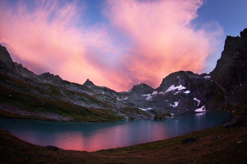 имеретинка, закат Розовое над лазурью.photo preview