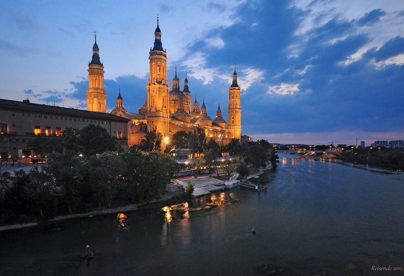 испания, арагон, сарагоса, basilica, , pilar, ночь Basilica del Pilar. Ночьphoto preview