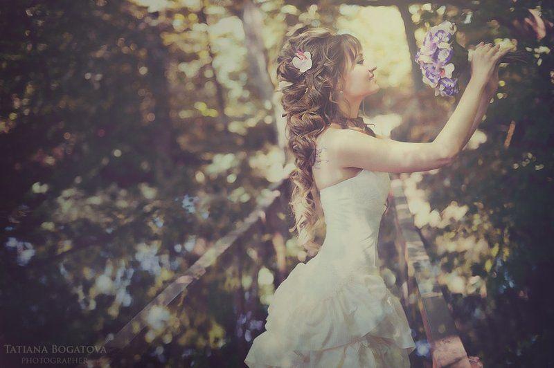 свадьба, природа, жених и невеста. photo preview