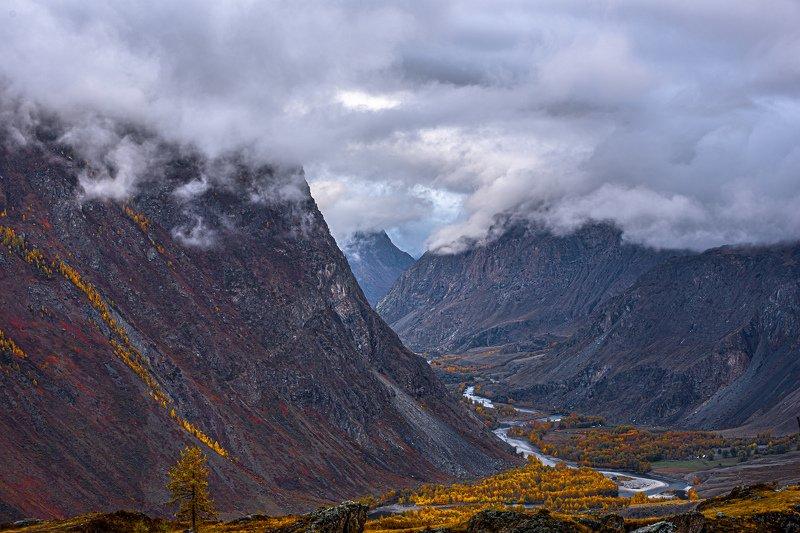 горы. осень. алтай. Долина  реки Чулышман.photo preview