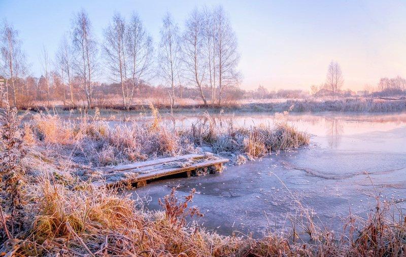 утро, зима, туман, солнце, рассвет, река, пушкино, уча Настроение зимнего утраphoto preview