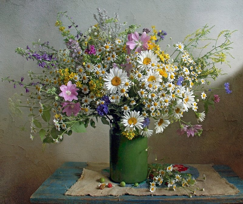лето,  цветы, натюрморт, марина филатова Цветами лето радужно манитphoto preview