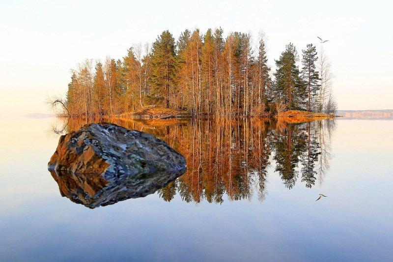 Карелия Озеро Природа Весна Веснаphoto preview