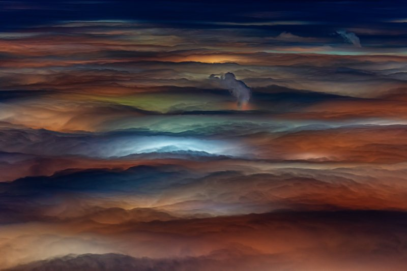 А colorful sea of mist over the city of Sofia...photo preview