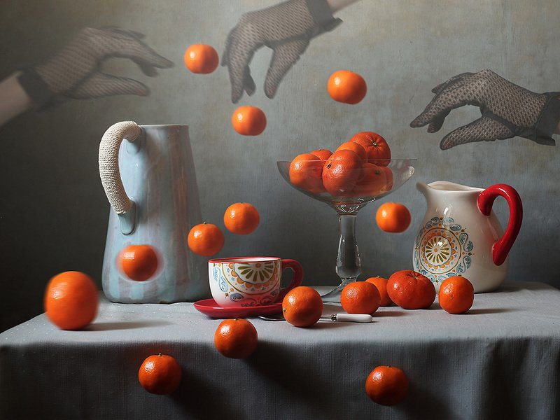 мандарины, натюрморт Мандариновые историиphoto preview