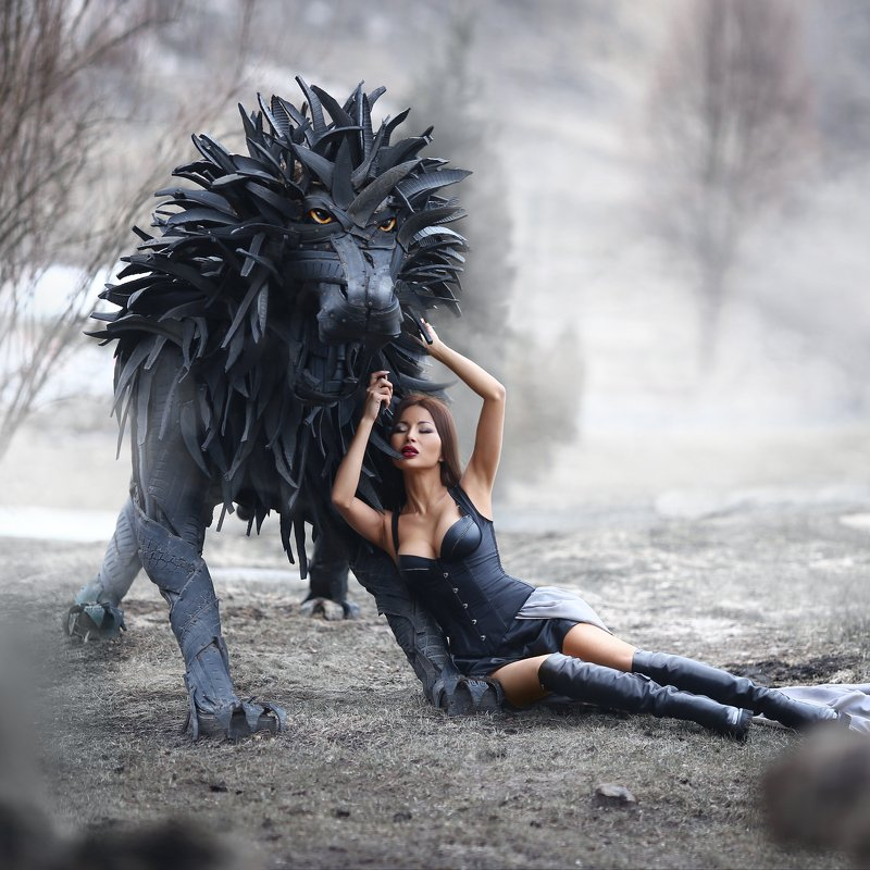 изделия из шин, лев, красавица и чудовище, лев из покрышек, своими руками photo preview