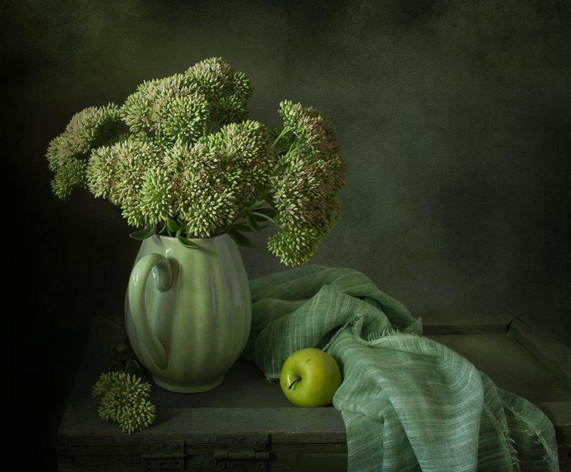 натюрморт, цветы Зеленыйphoto preview