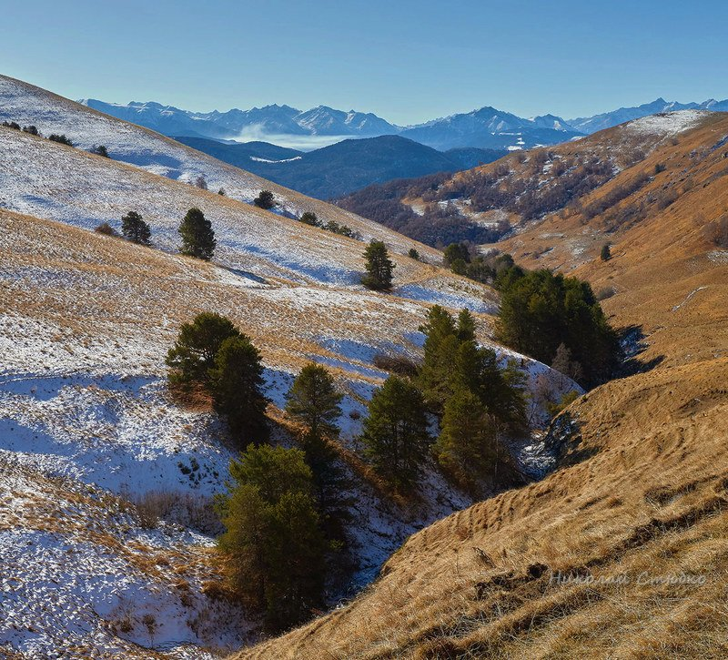 кавказ горы зима Горный этюдphoto preview