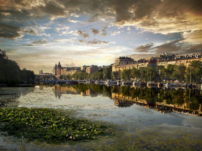 швеция Стокгольм утреннийphoto preview