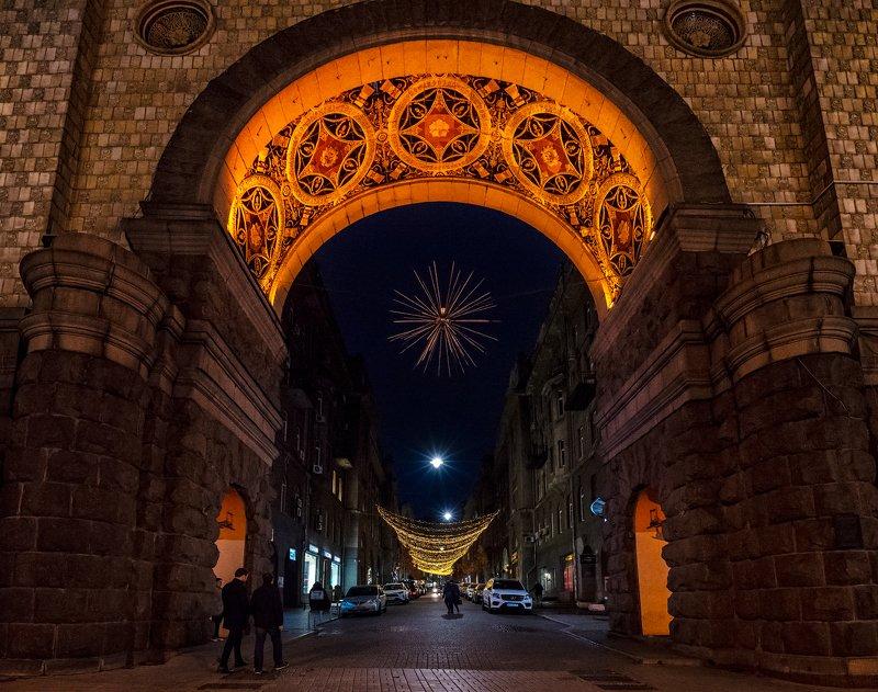 улочка, город, ночной город, арка, освещение, стрит, архитектура Улочкаphoto preview