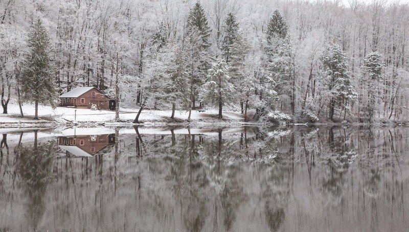 пейзаж, озеро,зима,природа,отражения, Зимняя сказка...photo preview