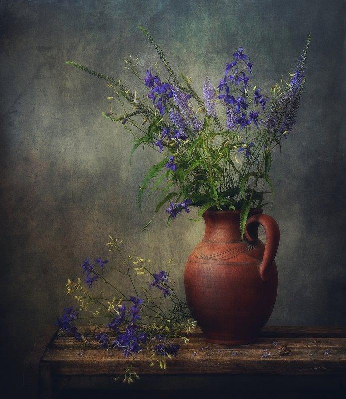 натюрморт,цветы,букет,лето с полевыми цветами... фото превью