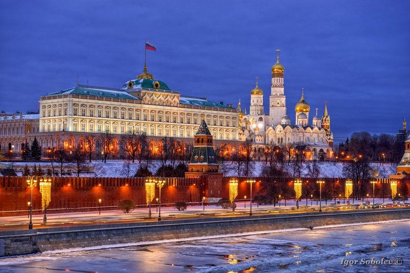 Москва, Кремль, зима, Moscow, Kremlin, winter Московский кремльphoto preview