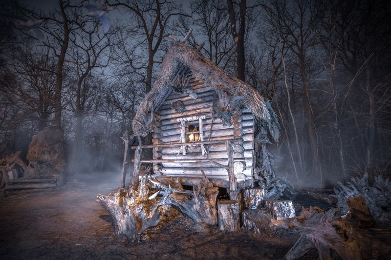 forest park house fog night outdoors nature cityscape mood dark winter wideangle longexpo Sleepy Hollowphoto preview